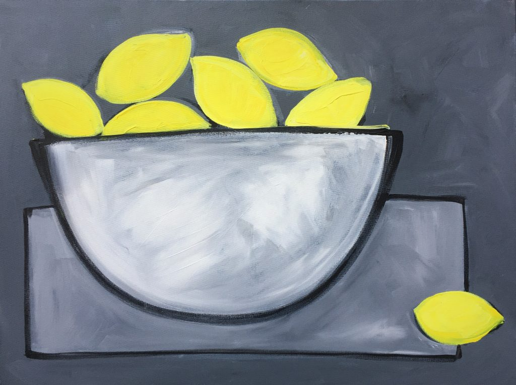 Iona Sanders, Lemon fest, 2019, acrylic, original, £800, Eleven and a Half