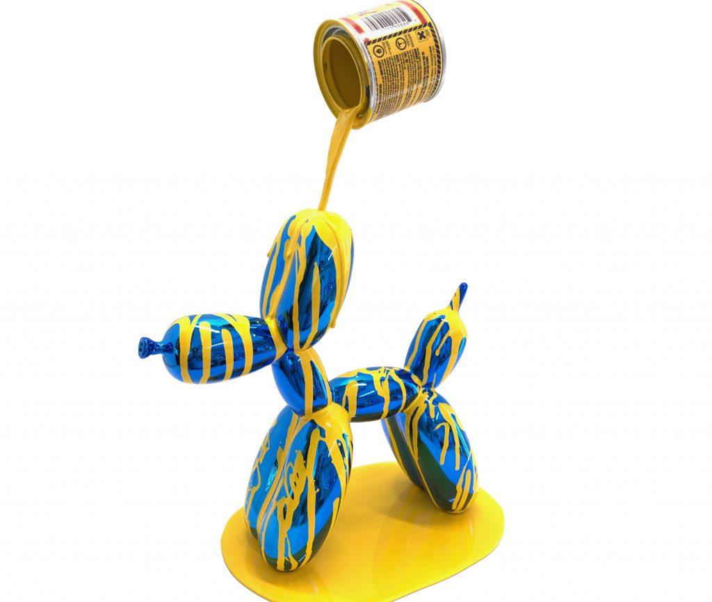 Joe Suzuki, Balloon Puppy (Blue and yellow)
